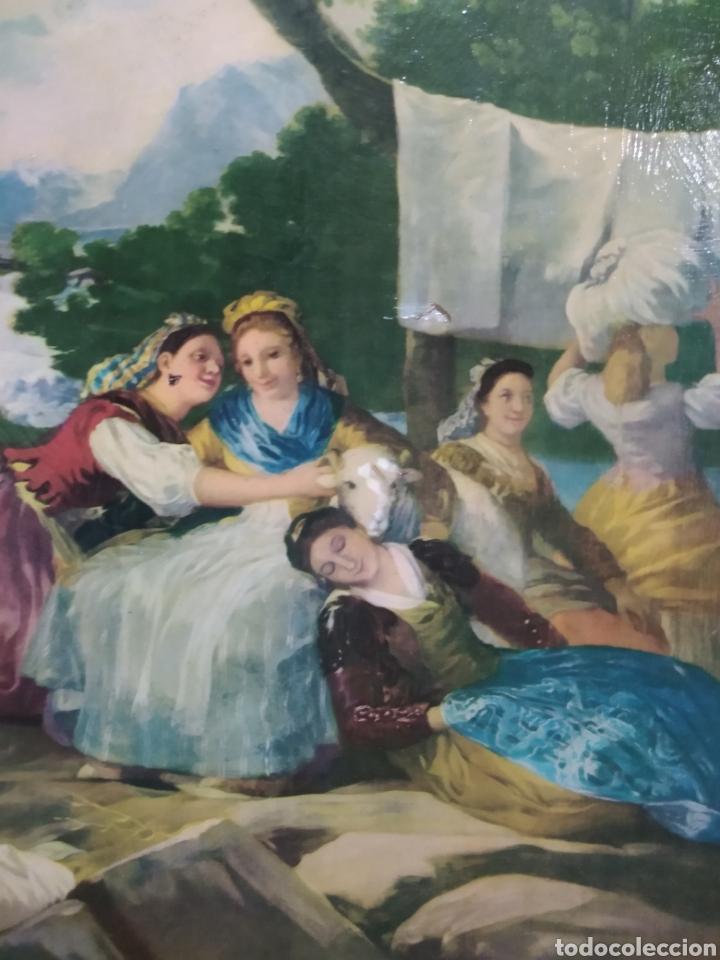 Varios objetos de Arte: ANTIGUO( CUADRO GOYESCO MUJERES LAVANDO ) PINTADO SOBRE TABLA. MÁS CUADROS ANTIGUOS EN MI PERFIL. - Foto 9 - 177942033