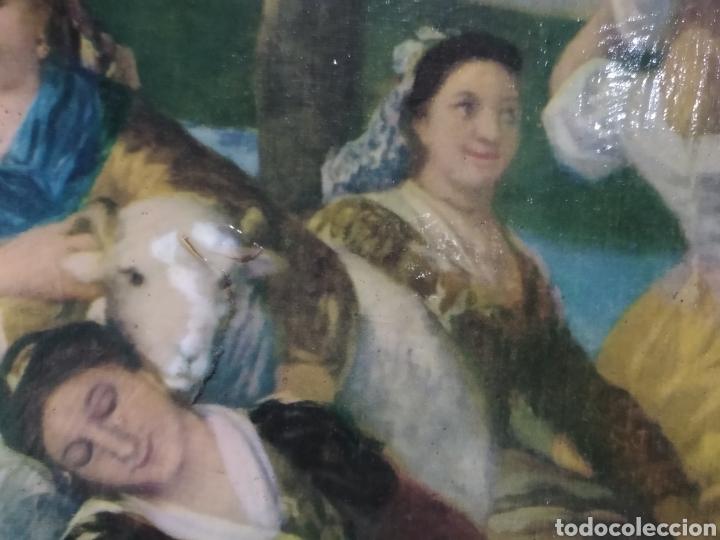 Varios objetos de Arte: ANTIGUO( CUADRO GOYESCO MUJERES LAVANDO ) PINTADO SOBRE TABLA. MÁS CUADROS ANTIGUOS EN MI PERFIL. - Foto 10 - 177942033