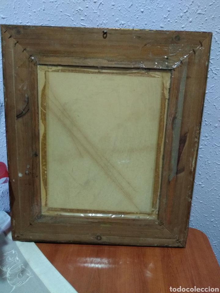 Varios objetos de Arte: ANTIGUO( CUADRO GOYESCO MUJERES LAVANDO ) PINTADO SOBRE TABLA. MÁS CUADROS ANTIGUOS EN MI PERFIL. - Foto 13 - 177942033