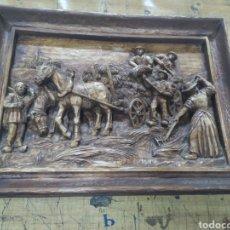 Varios objetos de Arte: CUADRO TALLADO. Lote 177942543