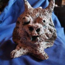 Varios objetos de Arte: FIGURA DE PAPEL MACHE '' GÁRGOLA '' CON TERMINACIÓN EN PIEDRA. Lote 178052258