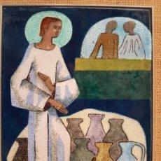 Varios objetos de Arte: MONTSERRAT MAINAR BENEDICTO, (BARCELONA 1928-2015), ESMALTE AL FUEGO SOBRE COBRE ORIGINAL. Lote 178092153