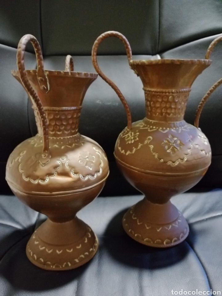 Varios objetos de Arte: jarrones de cobre - Foto 3 - 178203766