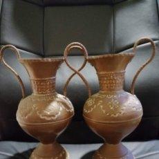 Varios objetos de Arte: JARRONES DE COBRE. Lote 178203766