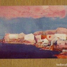 Varios objetos de Arte: INVITACIÓN MIQUEL IBARZ. DEU ANYS DE PINTURA 1974-1984. SALA GASPAR. BARCELONA. 10X15 CM.. Lote 178213575