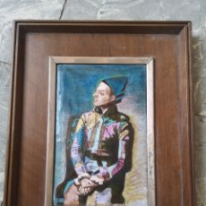 Varios objetos de Arte: 26X32CM, CUADRO ESMALTE, ARLEQUIN DE PICASSO, ENMARCADO.. Lote 178283610