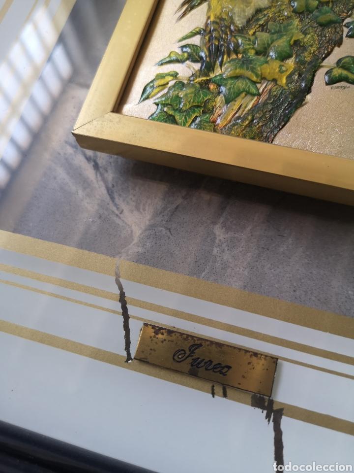 Varios objetos de Arte: decorativo cuadro, aves, relieve con marco de cristal. Enmarcado. 38x44cm - Foto 3 - 178283865