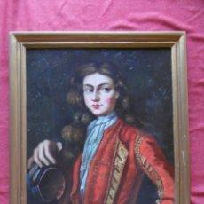 Varios objetos de Arte: CUADRO ÓLEO RETRATO, FIRMADO ALVAREZ.. Lote 178292755