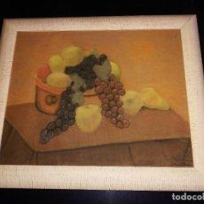 Varios objetos de Arte: PINTURA BODEGON DE FRUTAS MEDIDAS CON MARCO 72 X 61. Lote 178778107