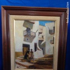 Varios objetos de Arte: PRECIOSO CUADRO PAISAJE PINTADO Y FIRMADO VER FOTOS Y MEDIDAS! SM. Lote 179019758