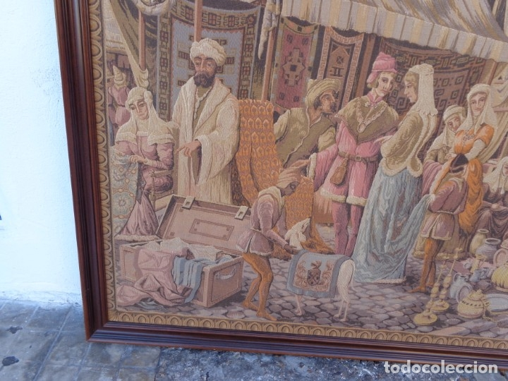 Varios objetos de Arte: MUY ANTIGUO PRINCIPIOS 1900 ENORME E IMPECABLE TAPIZ COMPLETO E IMPORTANTE - Foto 2 - 179063792