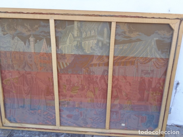 Varios objetos de Arte: MUY ANTIGUO PRINCIPIOS 1900 ENORME E IMPECABLE TAPIZ COMPLETO E IMPORTANTE - Foto 11 - 179063792