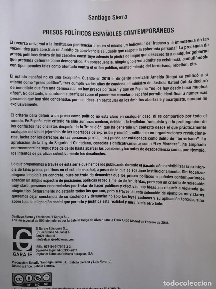 Varios objetos de Arte: Presos políticos, Santiago Sierra, ARCO 2018 - Foto 9 - 179069053