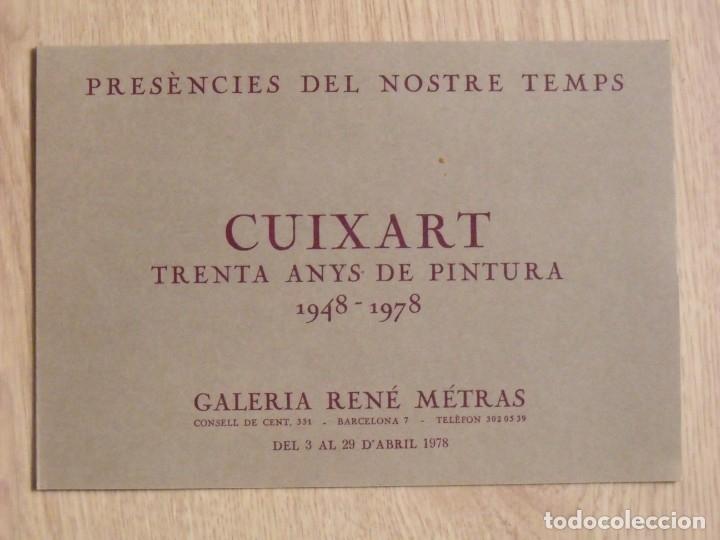 CUIXART. TRENTA ANYS DE PINTURA. DÍPTICO GALERÍA RENÉ METRAS. 1978. BUEN ESTADO. 16X23 CM. (Arte - Varios Objetos de Arte)