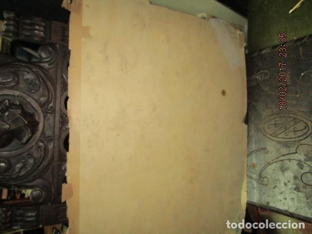 Varios objetos de Arte: ANTIGUA PINTURA IMPRESIONISTA BARCOS EN PUERTO Y CASTILLO ALICANTE - Foto 3 - 179104286
