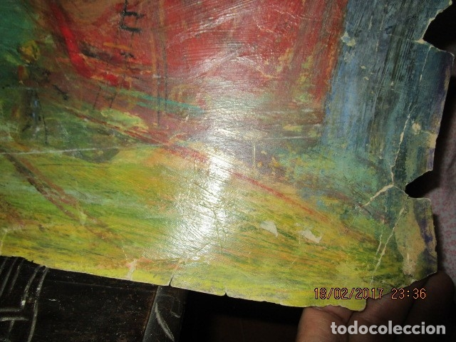 Varios objetos de Arte: ANTIGUA PINTURA IMPRESIONISTA BARCOS EN PUERTO Y CASTILLO ALICANTE - Foto 13 - 179104286