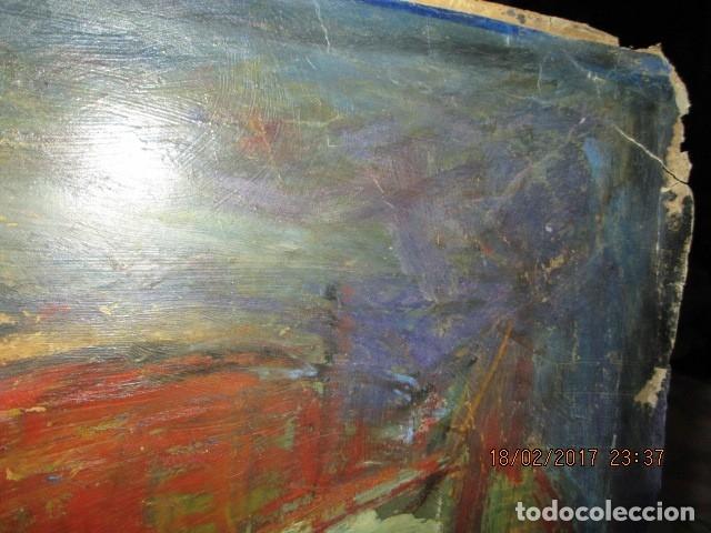 Varios objetos de Arte: ANTIGUA PINTURA IMPRESIONISTA BARCOS EN PUERTO Y CASTILLO ALICANTE - Foto 18 - 179104286