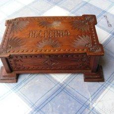 Varios objetos de Arte: CAJA DE MADERA, RECUERDO DE MATARÓ. Lote 179154085