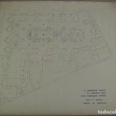 Varios objetos de Arte: ENORME DIBUJO - PLANO DE LA CATEDRAL DE GUADIX ( GRANADA ) .... 84 X 108 CM. Lote 179203650
