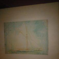 Varios objetos de Arte: TRANSFERENCIA IMAGEN BARCO EN MADERA. Lote 179255771