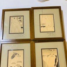 Varios objetos de Arte: CUATRO CUADROS DE JORGE SENDRA DEDICADOS. Lote 179257897