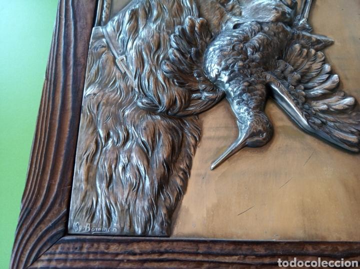 Varios objetos de Arte: Cuadro de latón caza - Foto 4 - 179380791