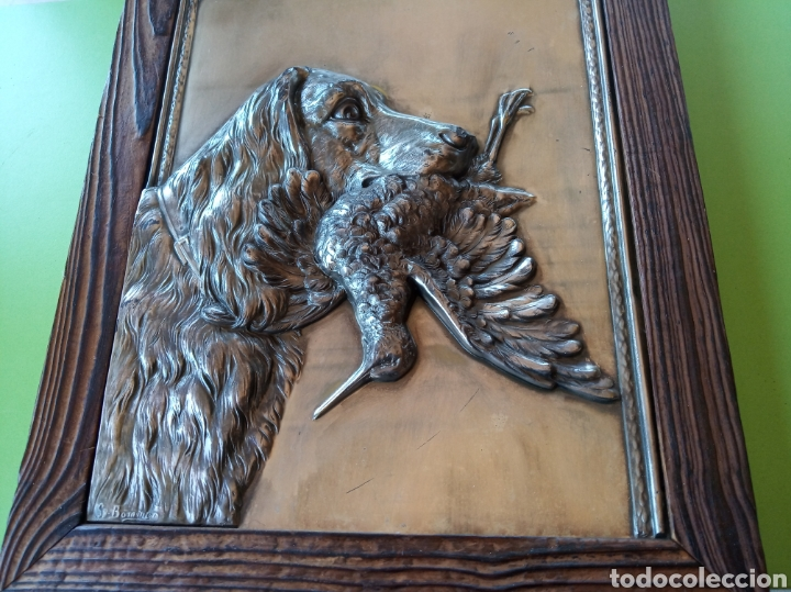 Varios objetos de Arte: Cuadro de latón caza - Foto 5 - 179380791