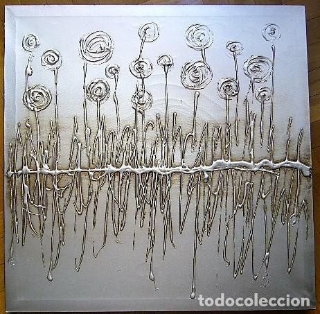 CUADRO TONO GRIS PLATA (Arte - Varios Objetos de Arte)