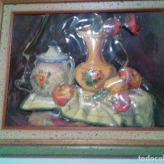 Varios objetos de Arte: BONITO CUADRO CON RELIEVE ESMALTADO. Lote 179557320