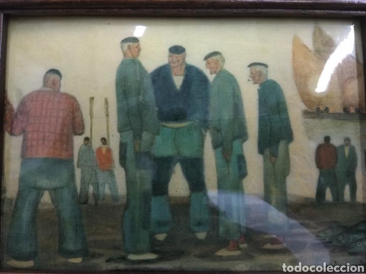 ANTIGUO CUADRO RAMÓN DE ZUBIAURRRE ESMALTADO ARRANTZALES VASCOS ESMALTE FIRMADO PAIS VASCO BASQUE (Arte - Varios Objetos de Arte)