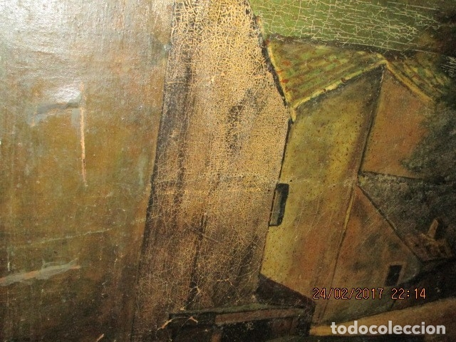Varios objetos de Arte: ENORME PINTURA ANTIGUA OLEO LIENZO SIGLO XIX XVIII 150 X 120 - Foto 20 - 82969376
