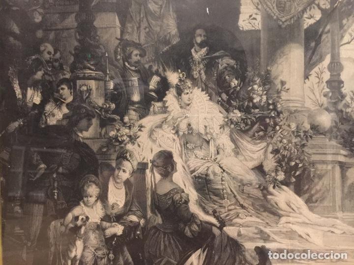 Varios objetos de Arte: Espectacular reproducción de F.Feldweg impreso ilegible 73cm X 54cm - Foto 2 - 180277212