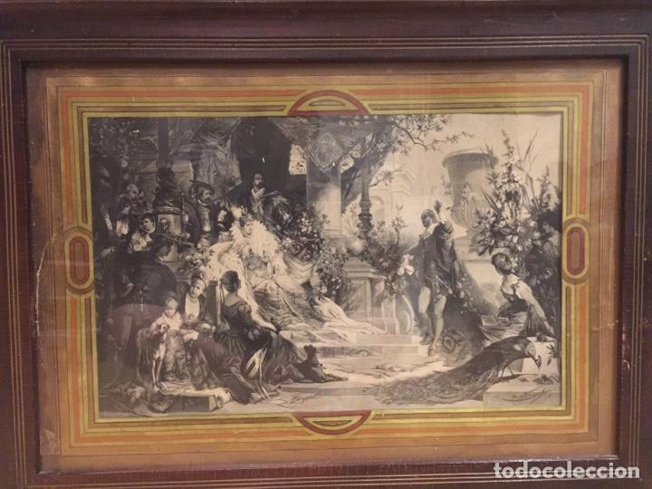 Varios objetos de Arte: Espectacular reproducción de F.Feldweg impreso ilegible 73cm X 54cm - Foto 7 - 180277212