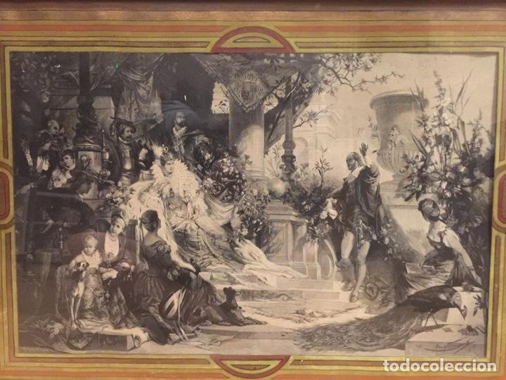 ESPECTACULAR REPRODUCCIÓN DE F.FELDWEG IMPRESO ILEGIBLE 73CM X 54CM (Arte - Varios Objetos de Arte)