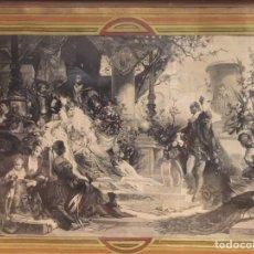 Varios objetos de Arte: ESPECTACULAR REPRODUCCIÓN DE F.FELDWEG IMPRESO ILEGIBLE 73CM X 54CM. Lote 180277212