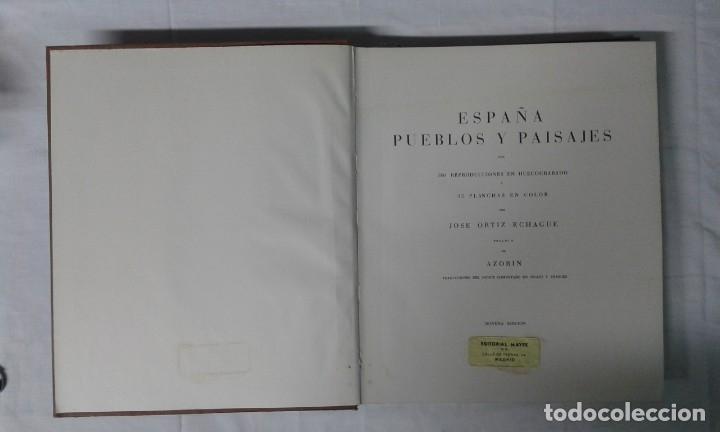 Varios objetos de Arte: ESPAÑA, PUEBLOS Y PAISAJES, JOSÉ ORTIZ ECHAGUE, EDITORIAL MAYFE - Foto 2 - 180282006