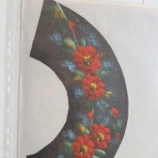 Varios objetos de Arte: PAIS DE ABANICO TELA PINTADA A MANO. Lote 180393593