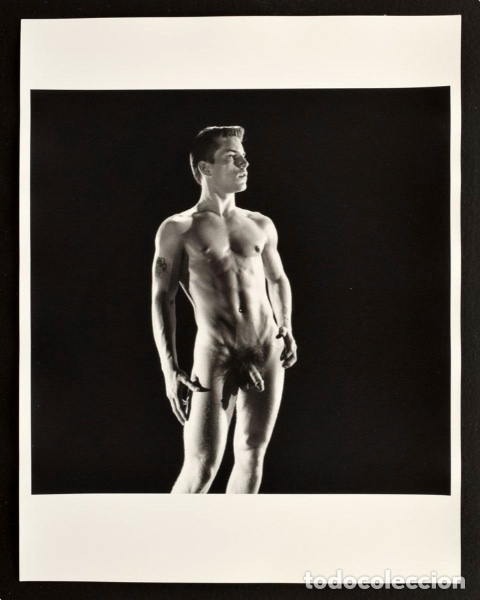 LARGE NUDE JOE DALLESANDRO PHOTO, BRUCE BELLAS ESTATE . BRUCE OF LOS ANGELES ARCHIVE: MALE PHYSIQUE (Arte - Varios Objetos de Arte)