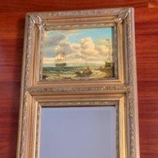 Varios objetos de Arte: ORIGINAL CUADRO EN OLEO CON ESPEJO INTEGRADO. Lote 181141621
