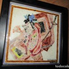 Varios objetos de Arte: PINTURA ANTIGUA EN AZULEJO FIRMADA . Lote 181163398