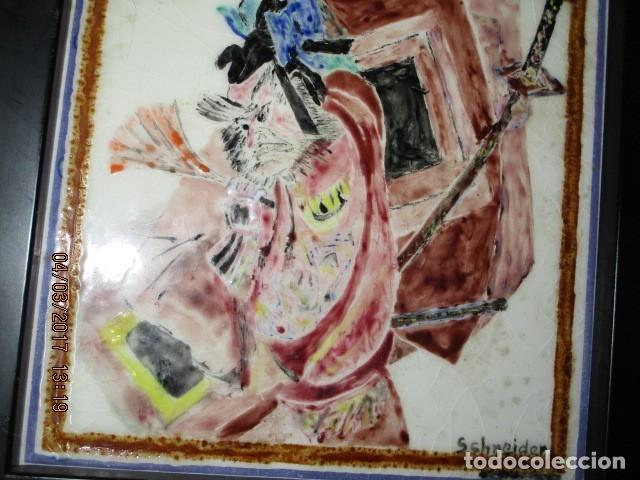 Varios objetos de Arte: PINTURA ANTIGUA EN AZULEJO FIRMADA - Foto 2 - 181163398