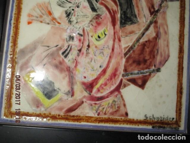 Varios objetos de Arte: PINTURA ANTIGUA EN AZULEJO FIRMADA - Foto 3 - 181163398