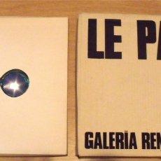 Varios objetos de Arte: JULIO LE PARC. CAJA CON GAFAS PSICODÉLICAS Y CATÁLOGO GALERÍA RENÉ METRAS. 32X32 CM. 1969.. Lote 238612950