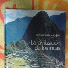 Varios objetos de Arte: LA CIVILIZACIÓN DE LOS INCAS, DOCUMENTOS DE ARTE, BUEN ESTADO. Lote 181213916
