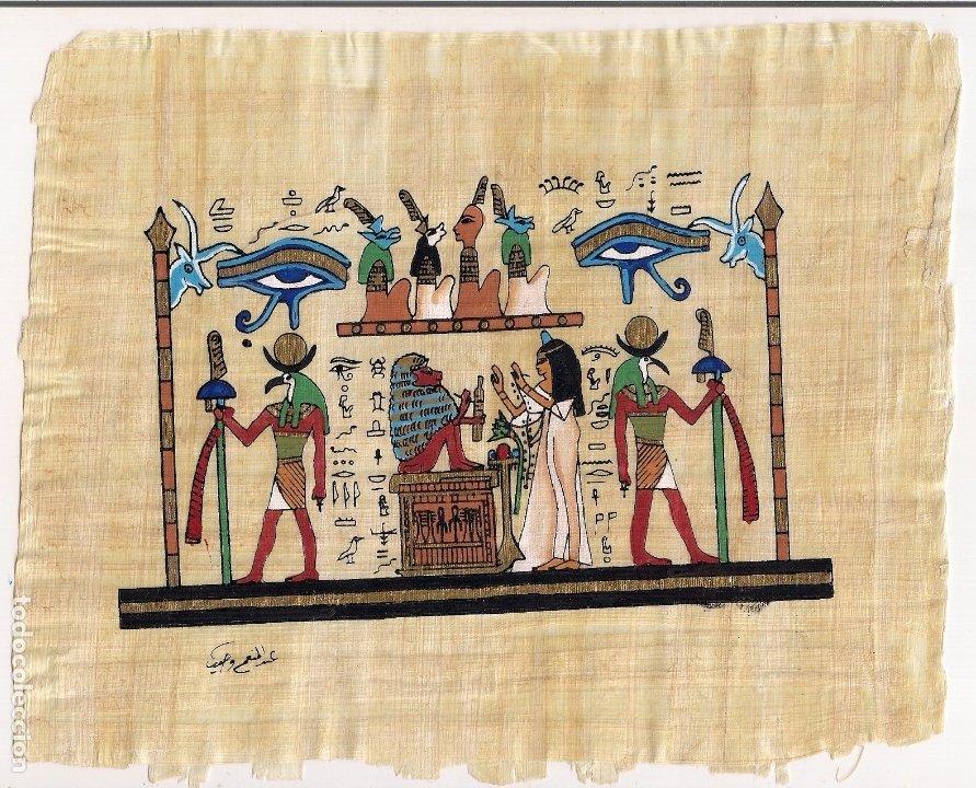 PAPIRO PINTADO A MANO CON CERTIFICADO DE GARANTÍA - TANIS PAPYRUS (Arte - Varios Objetos de Arte)