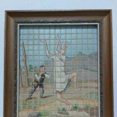 Varios objetos de Arte: ANTIGUO MOSAICO PINTADO A MANO A. BLASCO. Lote 181955877