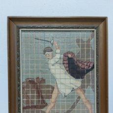 Varios objetos de Arte: ANTIGUO MOSAICO PINTADO A MANO A. BLASCO. Lote 181955951