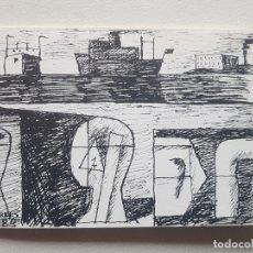 Varios objetos de Arte: INVITACIÓN PRESENTACIÓN AUGUSTO TORRES 1988 GUIDO CASTILLO. Lote 182113155
