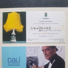 Varios objetos de Arte: LOTE 2 FLYER EXPOSICIÓN INVITACIÓN IMÁGENES DALÍ CADAQUÉS 2002-2008 FUENLABRADA/BENALMADENA. Lote 182208031