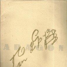 Arte: 3175.- ARAGON-REVISTA GRAFICA DE CULTURA ARAGONESA-Nº EXTRAORDFINARIO DEDICADO A GOYA. Lote 182254633
